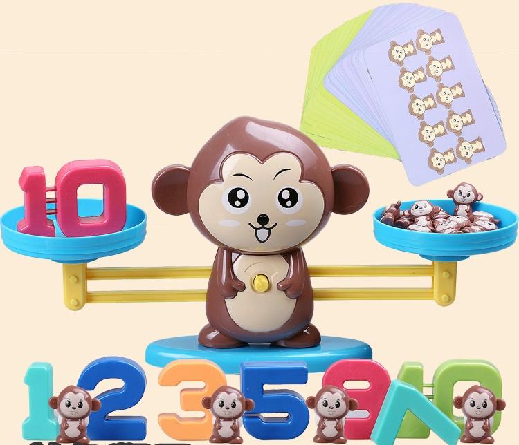 益智數學遊戲,猴子數字天秤玩具,數學算術遊戲